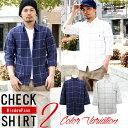 シャツ メンズ チェックシャツ 7分袖 ウインドペン リアルコンテンツ REALCONTENTS アメカジ ストリート系 ファッション