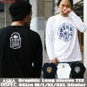ロンT メンズ 長袖 Tシャツ ロングTシャツ アスナディスペック ASNADISPEC アスナ M L XL XXL 2XL 3L 黒 ブラック 白 ホワイト プリント 大きいサイズ B系 ブランド