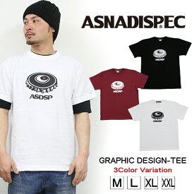 Tシャツ メンズ 半袖 ティーシャツ TEE アスナディスペック アスナ ASNADISPEC XL XXL 2XL 3L 黒 ブラック 白 ホワイト プリント 大きいサイズ B系 ブランド 人気 アメカジ ストリート系 ファッション おしゃれ かっこいい /3045/ asst2235