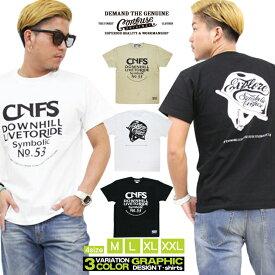 Tシャツ メンズ 半袖 ティーシャツ コンフューズ XL XXL 2XL 3L 黒 ブラック 白 ホワイト プリント 大きいサイズ ワーク ルード系 ブランド 人気 アメカジ ストリート系 ファッション おしゃれ かっこいい /3045/ con-rem-2583