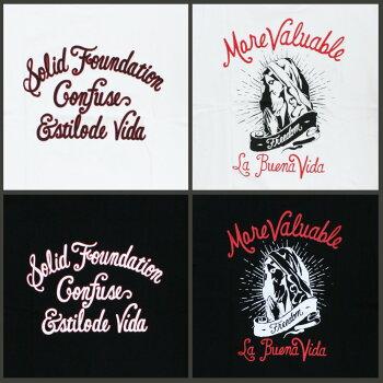 Tシャツメンズ半袖ティーシャツTEEコンフューズXLXXL2XL3L黒ブラック白ホワイトプリントブランド人気アメカジストリート系ファッションおしゃれかっこいい/3045/
