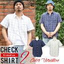 シャツ メンズ 綿麻 半袖 ウインドペン チェック リネンシャツ リアルコンテンツ REALCONTENTS 白 ホワイト 紺 ネイビー M L XL XXL ストリート系 ファッション