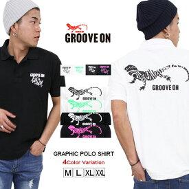 GROOVE ON ポロシャツ メンズ 半袖 カノコ ポロ グルーブオン アメカジ サーフ ストリート おしゃれ かっこいい 大きいサイズ gosp4604