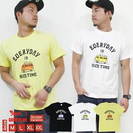 GROOVEON Tシャツ メンズ 半袖 ティーシャツ TEE グルーブオン プリント 大きいサイズ ブランド 人気 アメカジ ストリート サーフ おしゃれ かっこいい /3045/ gost4602