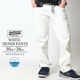 REALCONTENTS ボトムス メンズ ホワイトデニム ジーンズ 白 ストレッチ デニム パンツ 人気 ブランド リアルコンテンツ ストリート 大きいサイズ おしゃれ かっこいい