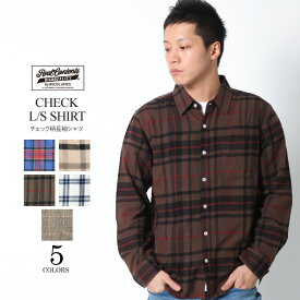 REALCONTENTS チェックシャツ メンズ トップス カジュアルシャツ 長袖シャツ コットンシャツ ブランド リアルコンテンツ M L XL XXL 大きいサイズ