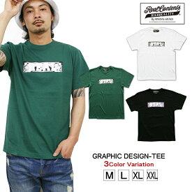Tシャツ メンズ 半袖 ティーシャツ リアルコンテンツ XL XXL 2XL 3L 黒 ブラック 白 ホワイト プリント 大きいサイズ B系 ブランド 人気 アメカジ ストリート系 ファッション おしゃれ かっこいい /3045/ rcst1230