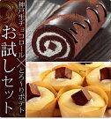【送料無料】しっとり生チョコロールケーキ&鳴門金時をたっぷり使用したとろ〜りポテトの豪華お試しセット
