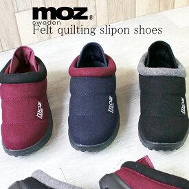MOZ モズ ワンポイント 刺繍 フエルトキルティング スリッポン サボサンダル かかとを倒せる 外履き 北欧 スエーデン 靴 レディース コンフォート 軽量 柔らかい サボ クッション スリッパ 柔らかい aw 人気