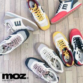 MOZ モズ 「m」ロゴ スエード調 レースアップ スニーカー 靴 レディース スニーカー カラフル ローカット 合成ゴム ウレタン底 防滑 北欧 スウェーデン カジュアル ヘラジカ エルク かわいい クッション性 ワンポイント 人気 21AW