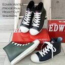 【タイムセール】EDWIN エドウィン ハイカット レインスニーカー ランキング1位♪ 防水 撥水 レインシューズ レインブーツ 靴 レディース レースアップ 靴紐 かっこいい 歩きやすい ブランド
