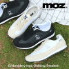 MOZモズ刺繍ロゴキルティングレースアップスニーカー