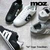 MOZモズ「m」ロゴナイロンレースアップスニーカー
