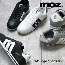 MOZ モズ 「m」ロゴ ナイロン レースアップ スニーカー 靴 レディース スニーカー ローカット 軽量 軽い 通販 北欧 スウェーデン ぺたんこ カジュアル フラット ヘラジカ エルク 21ss 人気