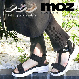 【パワークリアランス!】moz モズ ワンポイント ダブルベルト Tストラップ マジックテープ 厚底 スポーツ サンダル 靴 レディース ストラップ エルク ヘラジカ かわいい プラットフォーム スポサン かかとあり 履きやすい マーブル 21ss san 人気