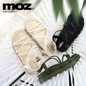 moz モズ 厚底 コードサンダル スポサン 靴 レディース スポーツサンダル ゴム紐 ストラップ スエーデン ブランド コードストラップ 編み上げゴム 履きやすい 21ss san 人気