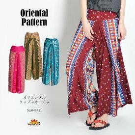 ワイドパンツ レディース きれいめ 夏 柄を惜しみなく堪能したい。オリエンタルワイドパンツ 柄 メンズ ハイウエスト 大きいサイズ エスニック アジアン ファッション