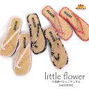 サンダル レディース ナチュラルな小花柄。小花柄ぺたんこサンダル ローヒール つっかけ フラット ビーチサンダル 雪駄 夏 アジアン エスニック ファッション