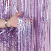 メタリックカーテンズキラキラ10本セット1Mx2.5Mカーテンカラーフォトブース写真結婚式ウェディング二次会ウェルカムスペース前撮りアイテム誕生日パーティー飾り飾り付け装飾バースデークリスマス