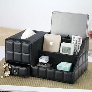 送料無料 ティッシュケース リモコンラック ティッシュボックス 化粧品収納 小物入れ 分格設計 北欧 おしゃれ 卓上 多機能収納 ホワイト ベージュ 卓上収納 ティッシュ リモコンケース
