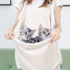 猫 犬 抱っこ紐 ペットスリング ペット寝袋 抱っこ用エプロン ポケット カンガルー ブランケット 猫じゃらし 防寒対策 毛粘着防止 暖かい