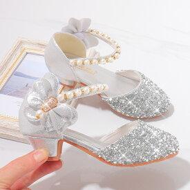 送料無料 フォーマルシューズ サンダル 女の子靴 子供 履きやすい 女の子 靴 キッズ ピアノ 入園式 卒業式 卒園式 結婚式 入学式 ピンク シルバー ゴールド 楽天海外直送