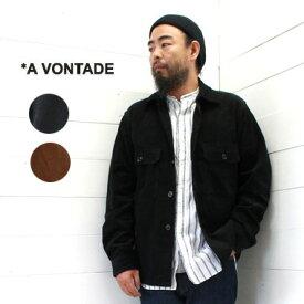 A VONTADE (アボンタージ) ユーティリティ シャツ ジャケット コーデュロイ Utility Shirts JacketVTD-0292-JK-CD