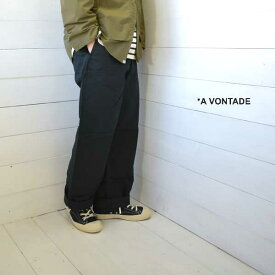 A VONTADE (アボンタージ) チノトラウザー ワイドフィット Type 45 Chino Trousers - Wide Fit - blackVTD-0340-PT メンズ パンツ チノパン ワイド a vontade 送料無料 日本製 正規取扱店