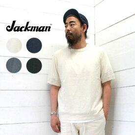 Jackman (ジャックマン)リブTシャツ 半袖 Rib T-shirt JM5632 メンズ レディース tシャツ 半袖 コットン 綿 無地 日本製 正規取扱店