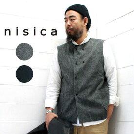 nisica (ニシカ) ダブルボタン ベストメンズ レディース トップス ベスト 送料無料 日本製 正規取扱店