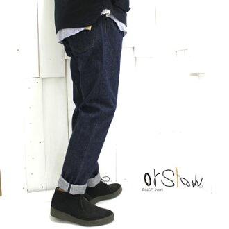 orslow(或低下)107 aibifittodenimuserubitchi IVY FIT DENIM 107 SELVEDGE MEN'S 01-0107-81 orslow 107粗斜紋布日本製造正規的經銷商