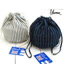 yarmo (ヤーモ) 巾着バッグ DRAWING PURSEYAR-18SS DRAWING PURSE / 巾着 ストライプ / yarmo バッグ / 巾着 小 / 巾着 おしゃれ / 浴…