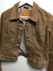 【USED】マックスアンドコー (MAX&Co) ジーンズジャケット ブラウン デニムジャケット レディース 値下げクリーニング済