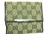 GucciWalletlady'sグッチ二つ折り財布レディース財布●グッチブランド財布/ファッショングッチ/レディース財布/二つ折り財布女性さいふ●色:黒【中古】[BCランク]