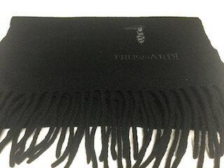 【全国送料メール便可】TRUSSARDI トラサルディ マフラー ウール ブラック 138cm 4330【中古】