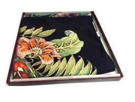 再度入 【500円】Salvatore Ferragamo サルヴァトーレフェラガモ スカーフ シルク絹 花束柄 正方形88×87【中古】