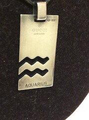 グッチ GUCCI ネックレス ペンダント アクセサリー メンズ可 AQUARIUS 水がめ座 星座プレート [中古] 人気 セール Y7282