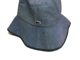 rakosu LACOSTE帽子曬黑帽子可逆薩哈共和國再粗斜紋布57日本
