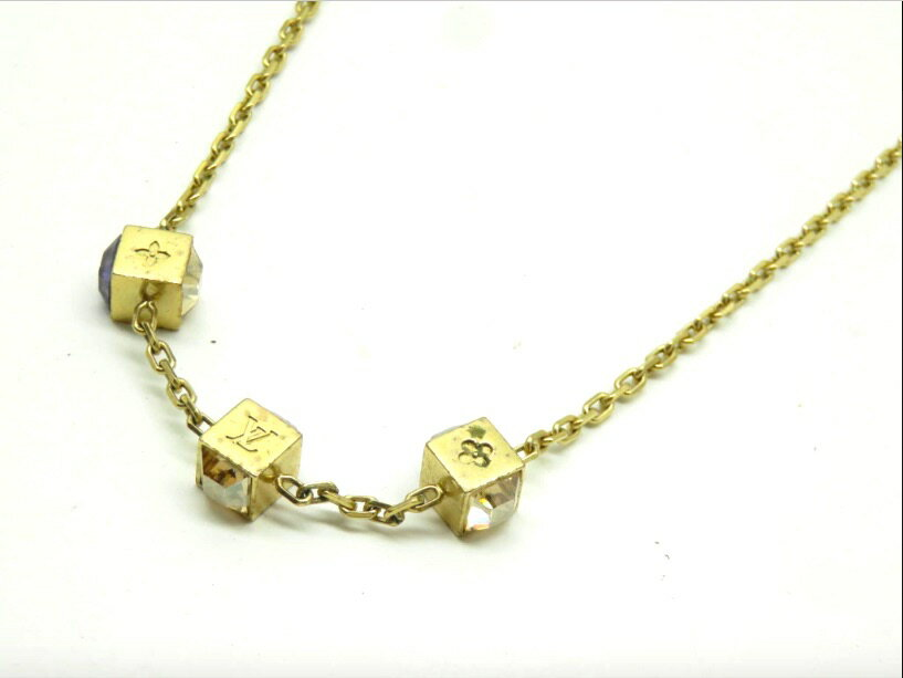 LOUIS VUITTON ルイヴィトン ネックレス コリエギャンブル キューブネックレス ゴールド 箱 袋 GL0132