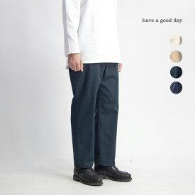 have a good day ハブアグッドデイ 馬布&デニム アンクル丈イージーワイドパンツ 日本製 メンズ
