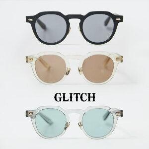 GLITCH グリッチ LEEDS リーズ GLH-1013 クラウンパント ボストンサングラス 48サイズ メガネ 伊達 度付き