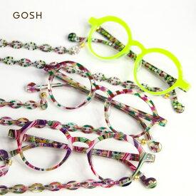 GOSH ゴッシュ ラウンドメガネ 丸メガネ グラスチェーン 老眼鏡 リーディンググラス シニアグラス レディース 女性 おしゃれ
