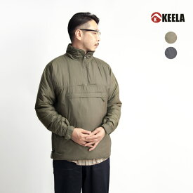 【バーゲン】KEELA キーラ BELAY OVER THE HEAD SMOCK プリマロフト中綿 スタンドスモック プルオーバー メンズ