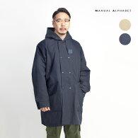 MANUALALPHABETマニュアルアルファベットスーパーハイカウントコットンナイロンフードコート中綿日本製メンズ