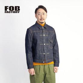 FOB FACTORY FOBファクトリー GL3セルビッチデニムジャケット 1st Gジャン 日本製 セットアップ対応 メンズ