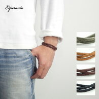 ESPERANTOエスペラントプエブロレザー編み込みブレスレットレザー本革日本製メンズ