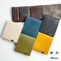 所作shosa三つ折り財布ショートウォレット2.0本革レザーbasic日本製メンズレディース