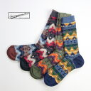 Anonymousism アノニマスイズム ウィグワムジャカード クルーソックス 日本製 靴下 メンズ