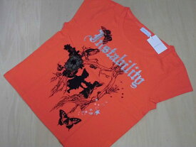 WORLD WIDE LOVE!(ワールドワイドラブ)ナイスカジュアルTシャツ♪オレンジ・フリー 送料無料