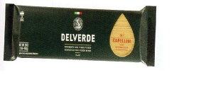 イタリア産 最高級デルヴェルデ(Delverde)N.1 カッペリーニ  太さ約1mm 500g ×24パックセット デュラム小麦セモリナ 2020.9末入荷予定